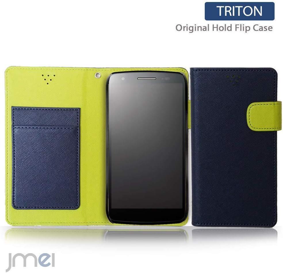 android one S6 アンドロイドワン kyocera ケース 新品 手帳型スマホケース スマートフォン simフリー 携帯 カバー 人気 ネイビー_画像1