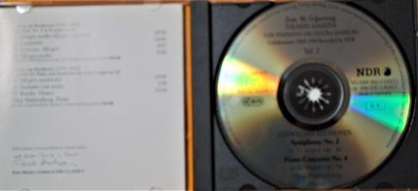 CD ODE 独・輸入盤 ☆ ベートーヴェン:交響曲第2番/ピアノ協奏曲第4番 ☆ マイセンベルク(P)朝比奈 隆/北ドイツ放送交響楽団_画像2