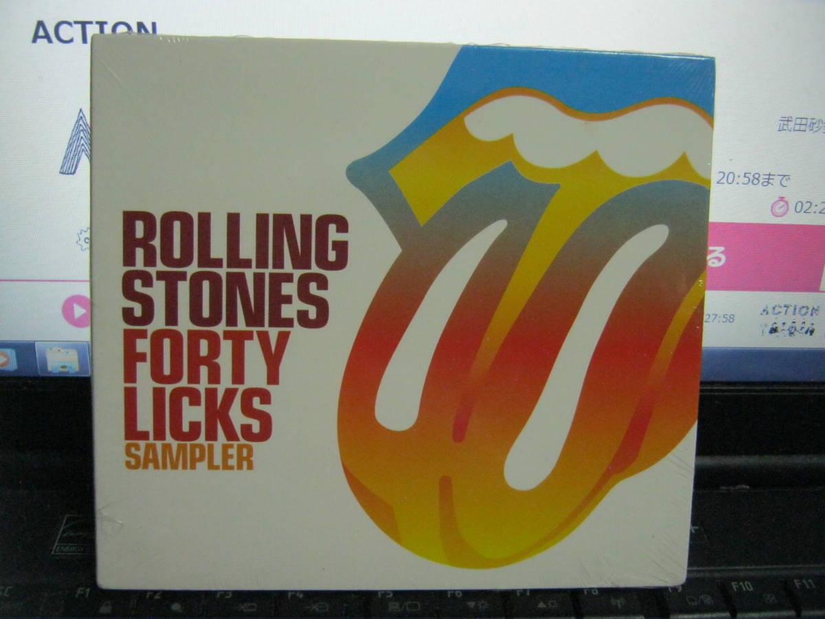 ROLLING STONES ローリングストーンズ / FORTY LICKS SAMPLER レア ヨーロッパ盤CD 未開封 MICK JAGGER KEITH RICHARDS RON WOOD _画像1