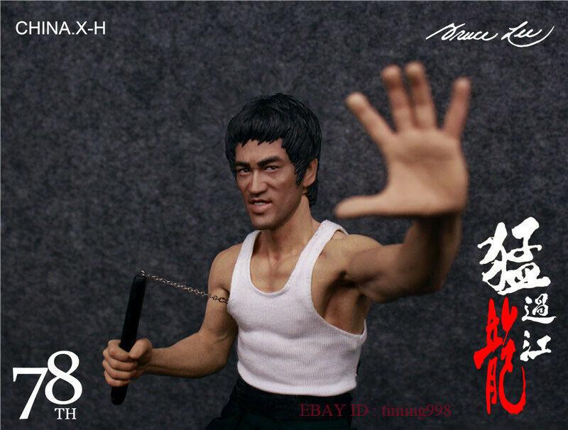 br 海外 限定 送料込み ブルース・リー 李小龍 CHINA. X- H Bruce Lee Commemorate 78周年記念 限定フィギュア 1/6 スケールサイズ_画像3