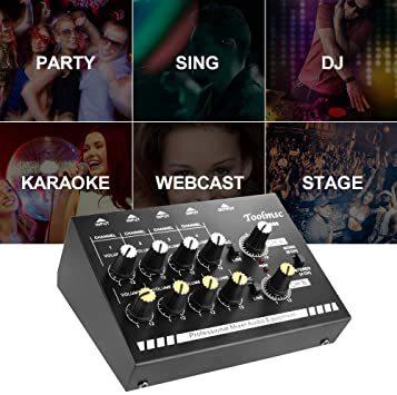 Toolmsc 8チャンネミキサー、ルモノラルステレオオーディオミキサー、CDプレーヤー、MP3プレーヤー、カセットレコーダーに_画像3