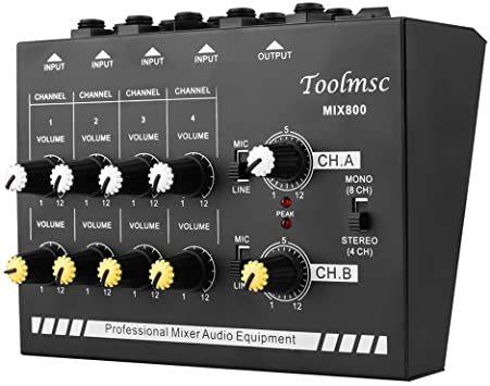 Toolmsc 8チャンネミキサー、ルモノラルステレオオーディオミキサー、CDプレーヤー、MP3プレーヤー、カセットレコーダーに_画像1