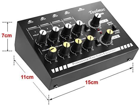 Toolmsc 8チャンネミキサー、ルモノラルステレオオーディオミキサー、CDプレーヤー、MP3プレーヤー、カセットレコーダーに_画像2