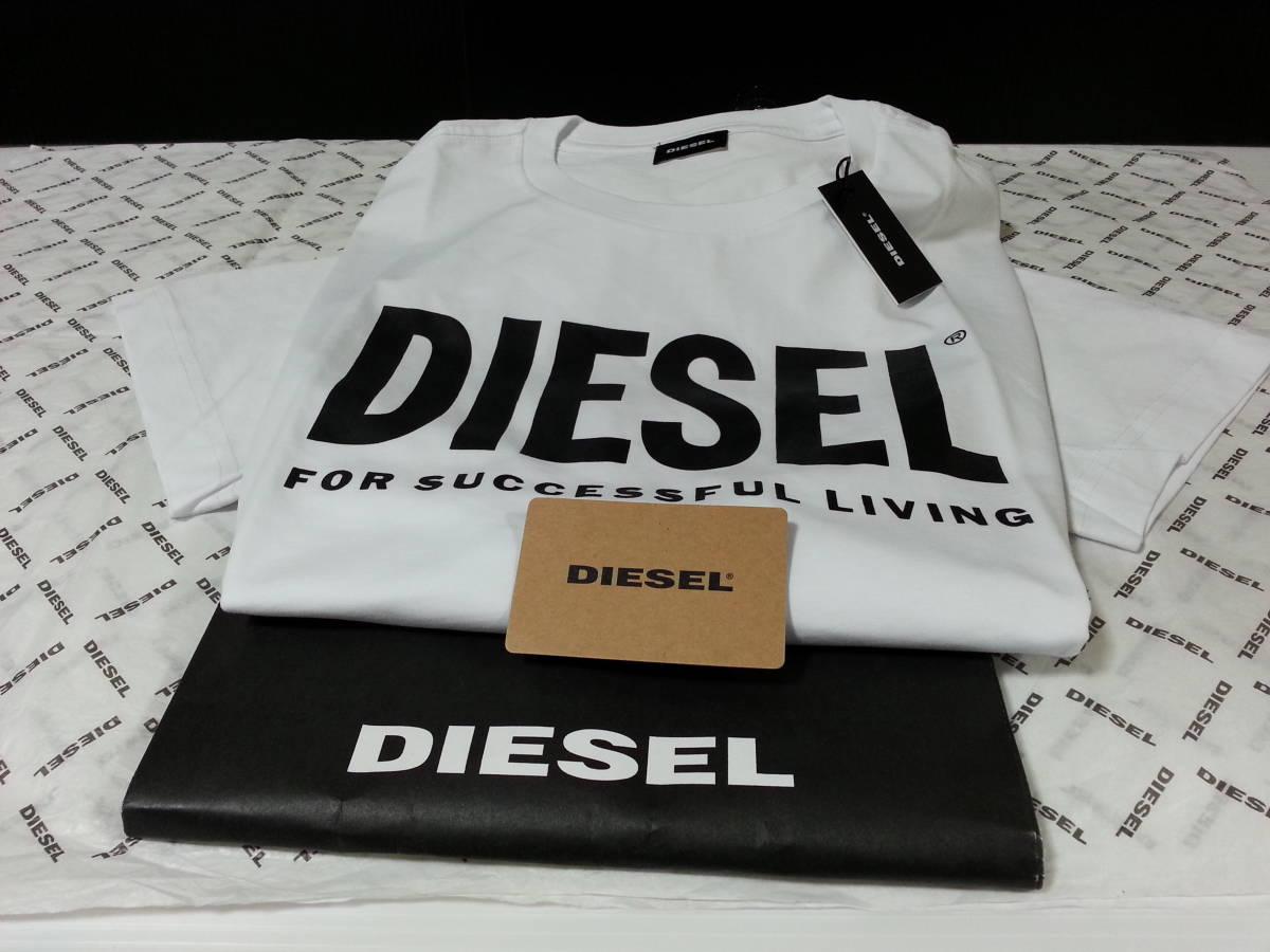 新品 DIESEL ディーゼル US 正規購入 ロゴデザイン 半袖 Tシャツ 日本サイズ XL程度の方 海外 XL タグ付 本物保証