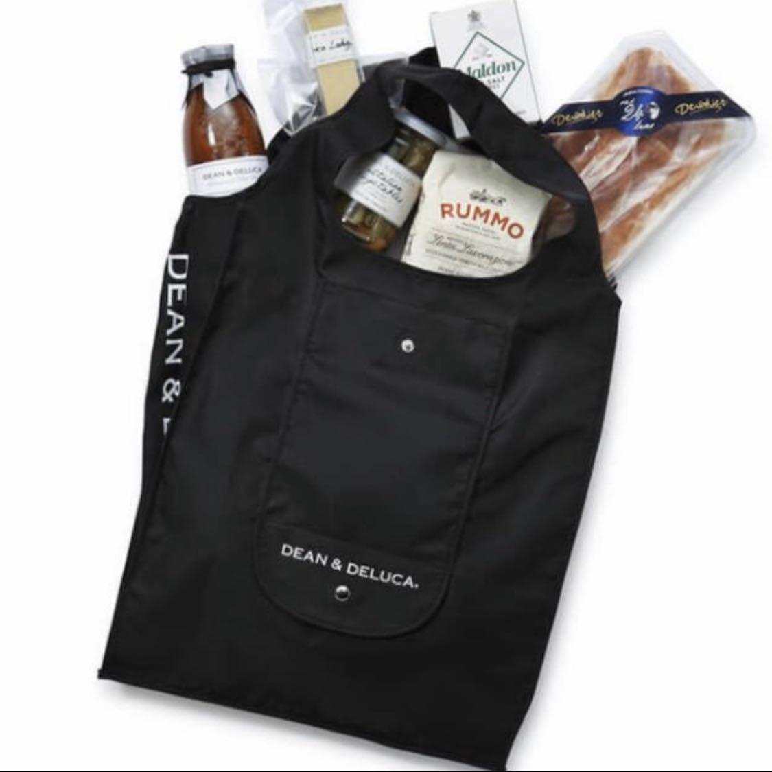 DEAN&DELUCA エコバッグ ブラック 黒 ショッピングバッグ トートバッグ ディーン&デルーカ サブバッグ マザーズバッグ ランチバッグ 正規品