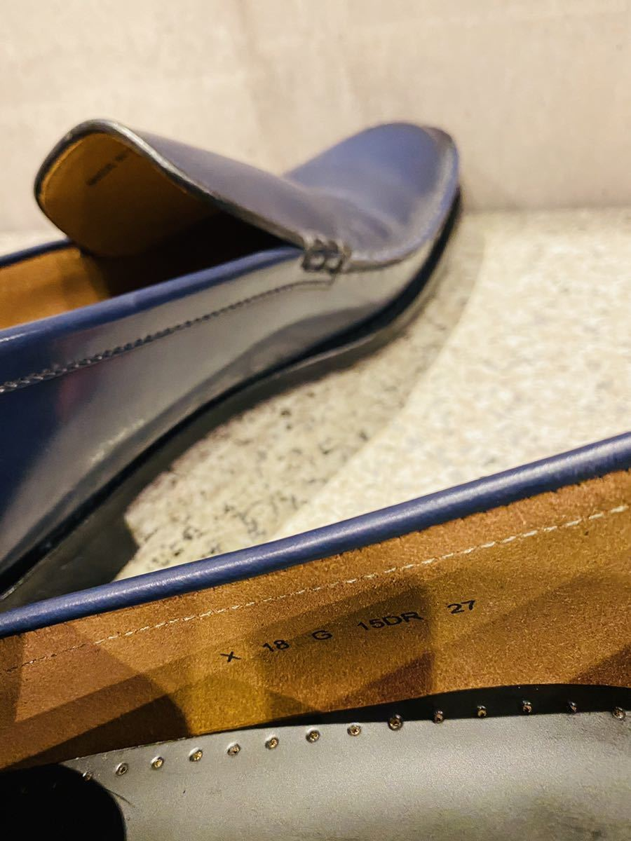 お盆限定!1円スタート!一回のみ使用!新品同様!REGAL リーガル 27.0cm ビジネスシューズ 革靴 ネイビー コブラヴァンプ 高級ローファー_画像7