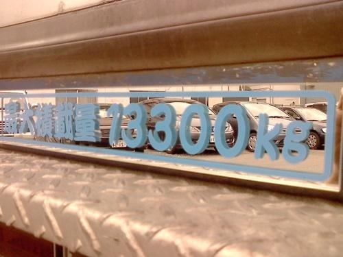 トヨタ NEWダイナワイド に外装ドレスアップパーツ 【ミラーMAX】最大積載量プレートを豪華ミラーであなただけの一枚を製作!_取り付け例(カンテイリュウ+ブルー)