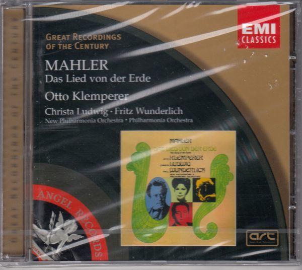 [CD/Emi]マーラー:交響曲「大地の歌」/C.ルートヴィヒ()ms&F.ヴンダーリヒ(t)&O.クレンペラー&フィルハーモニア管弦楽団他_画像1