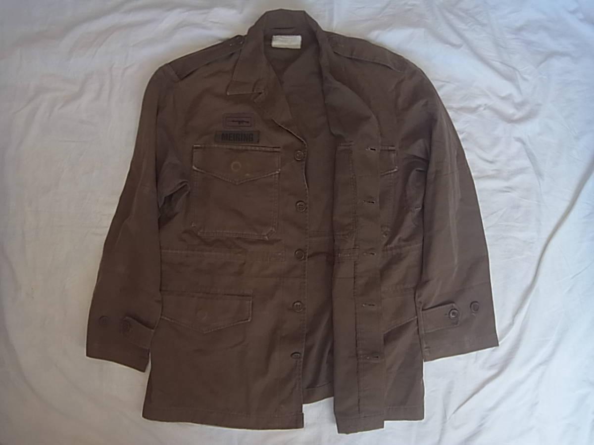 実物 南アフリカ軍 珍品 タグ・記章付きニュートリアブラウン コンバットジャケット 特殊部隊 RECCE 32大隊_画像2