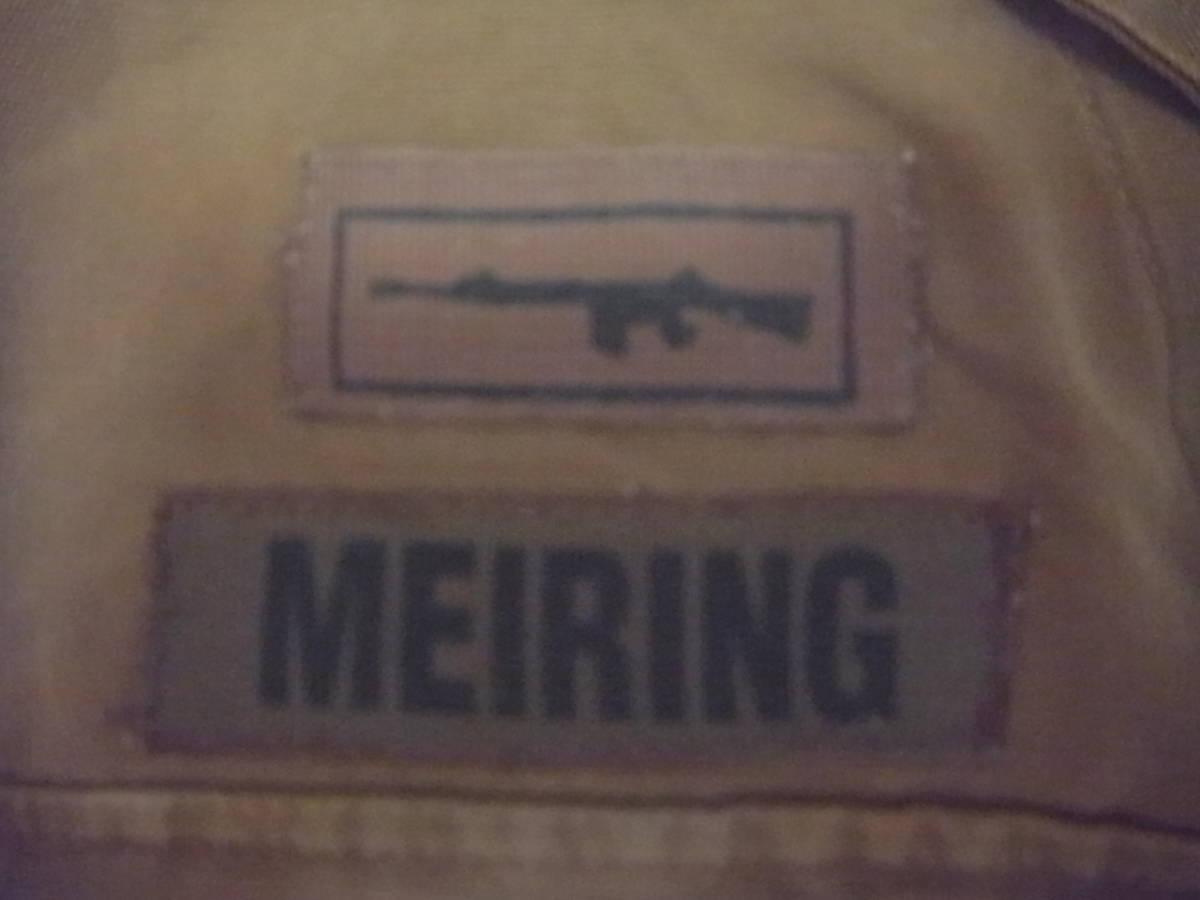 実物 南アフリカ軍 珍品 タグ・記章付きニュートリアブラウン コンバットジャケット 特殊部隊 RECCE 32大隊_記章