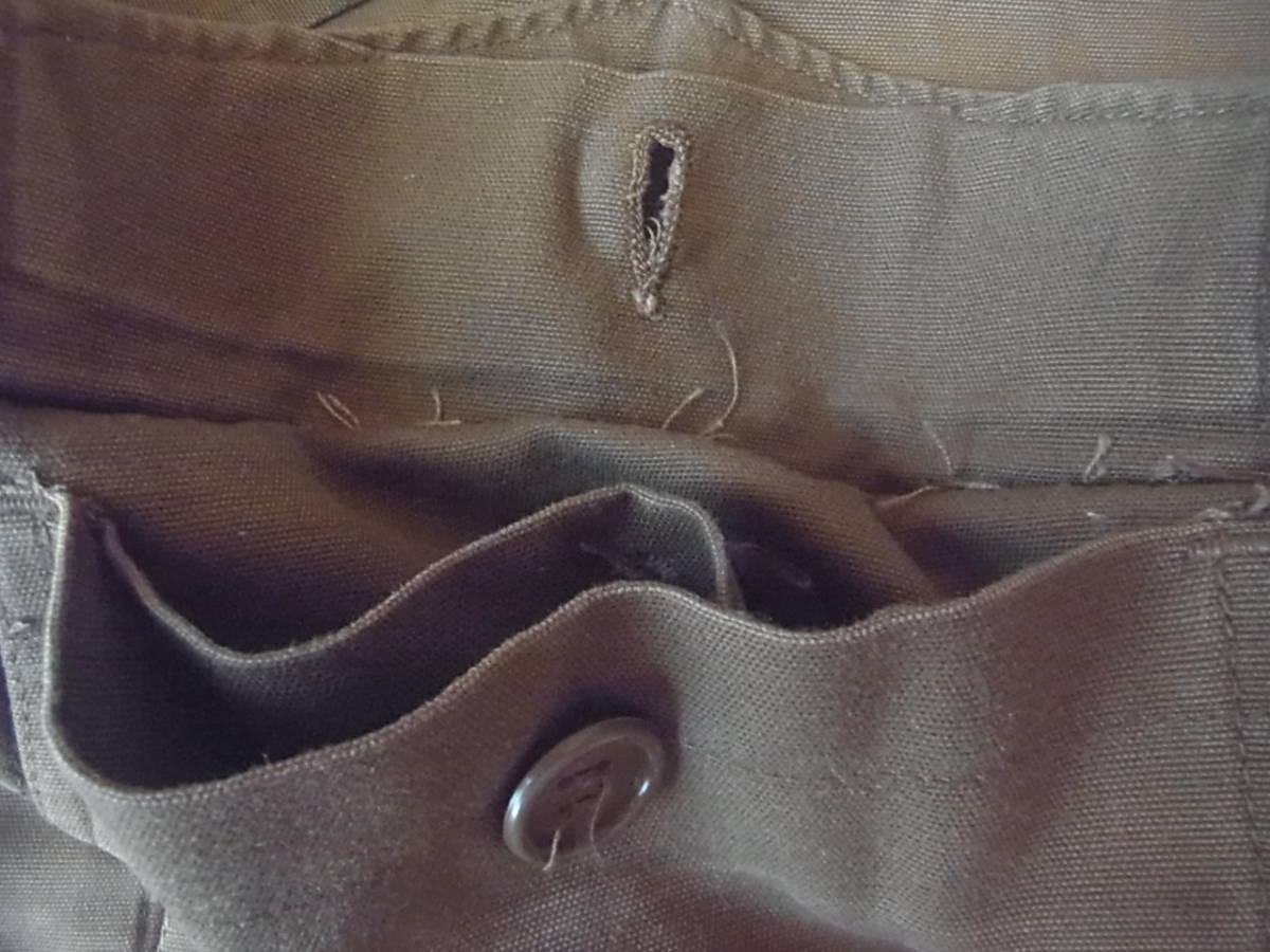 実物 南アフリカ軍 珍品 タグ・記章付きニュートリアブラウン コンバットジャケット 特殊部隊 RECCE 32大隊_隠しポケット