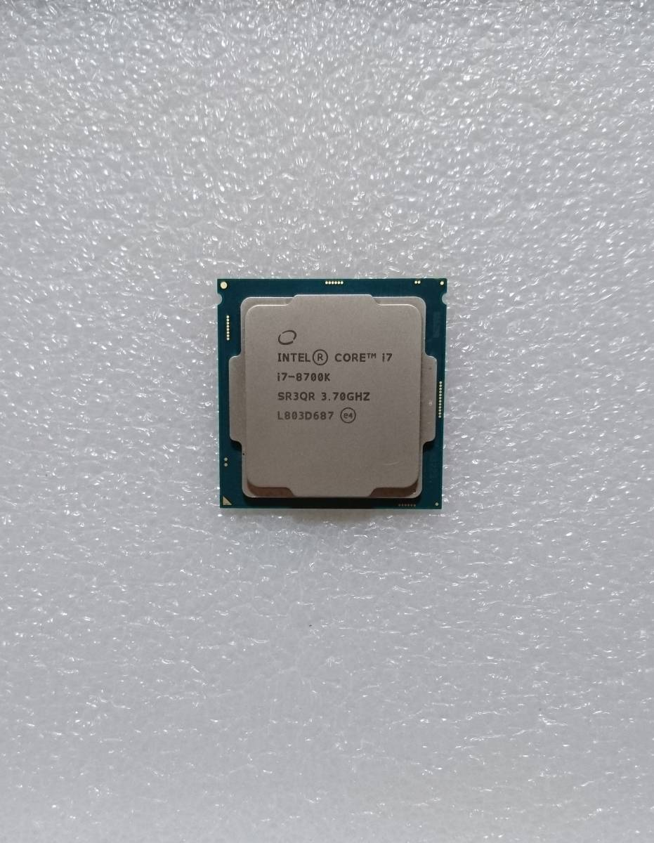 intel Core i7-8700K SR3QR 3.7GHz LGA1151 インテル CPU 第8世代 junk