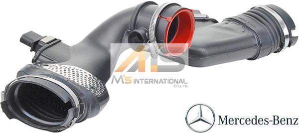 【M's】X166 GL350/W212 E350/W463 G350 G350d(V6/M642)純正品 エアーインテークダクトASSY//ベンツ Bluetec CDI エアマスセンサー_画像1