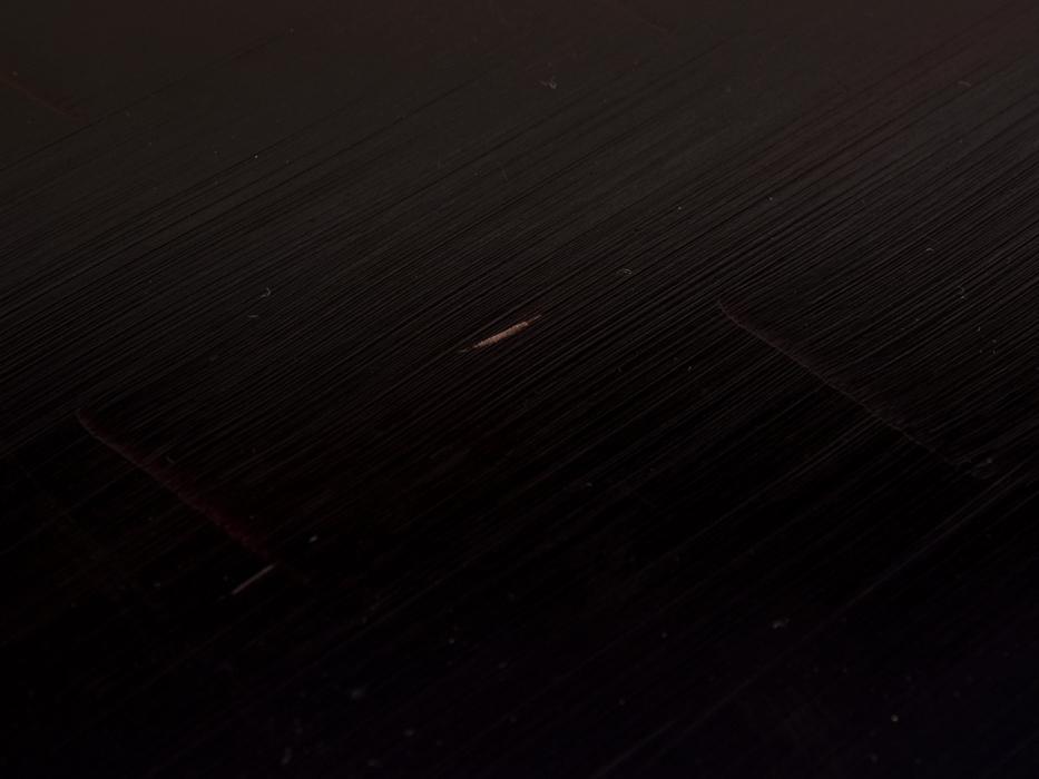 鎌倉彫 盛菊図盆 煎茶盆 27㎝×39㎝ 煎茶器 煎茶道具 朱塗 天然木 漆工芸 漆芸 木製漆器 堆朱 木工芸 美品 b8690n_裏面 ややスレあり
