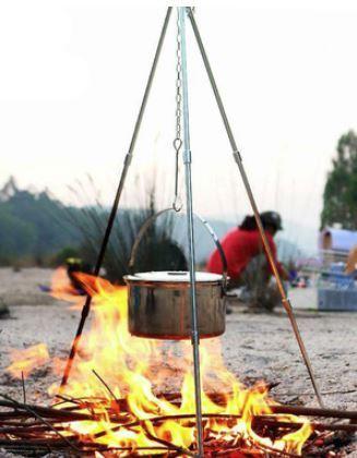 新品●アウトドア用 三脚 トライポッド バーベキュー 吊り下げ 焚き火 キャンプ 焚火 BBQ ダッチオーブン 料理 キャンプファイヤー