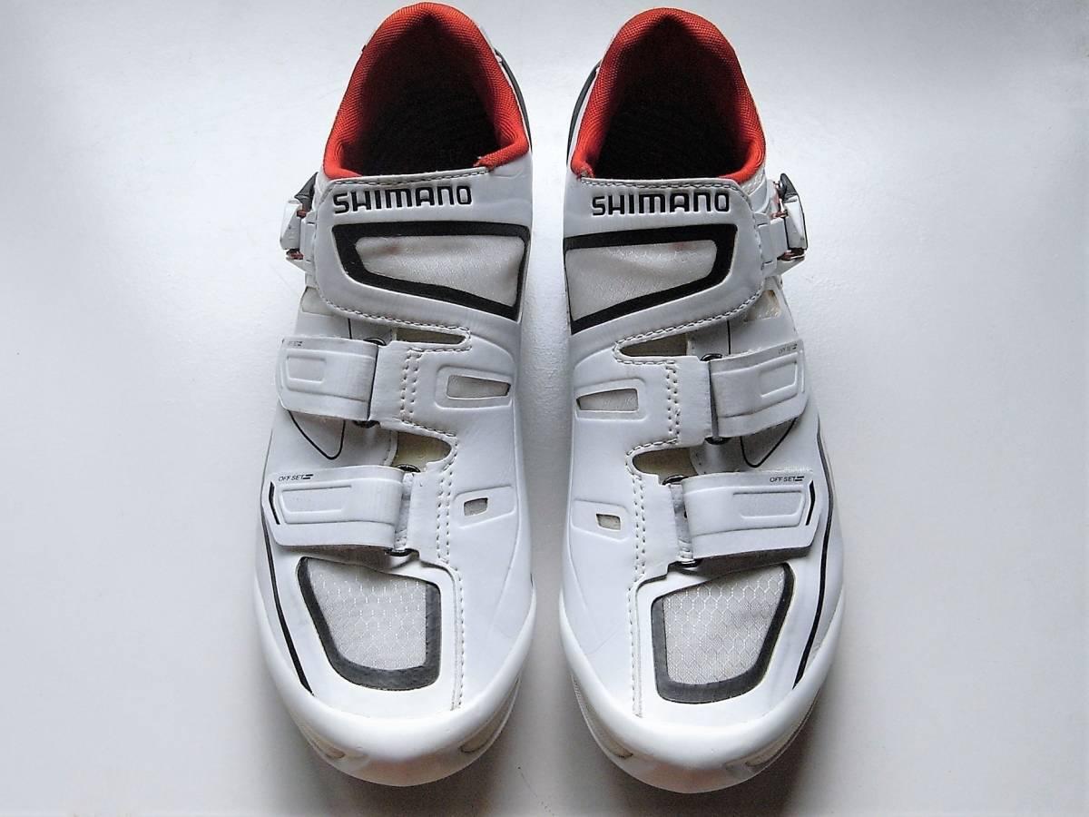 SHIMANO SH-R260W SPD-SL カスタムフィット ホワイト EU43.5 US9.3 CM27.5 _画像3