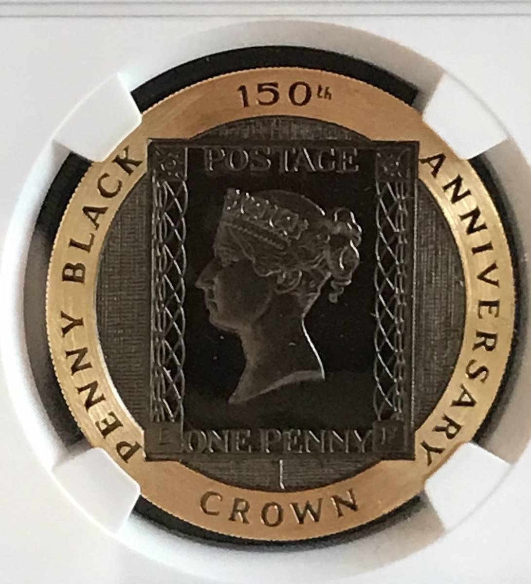 【3枚のみ! NGC PF66UC】1990年 イギリス領マン島 ペニーブラック クラウン金貨 NGC PF66 UC アンティークコイン/モダン 発行枚数1000枚_画像1