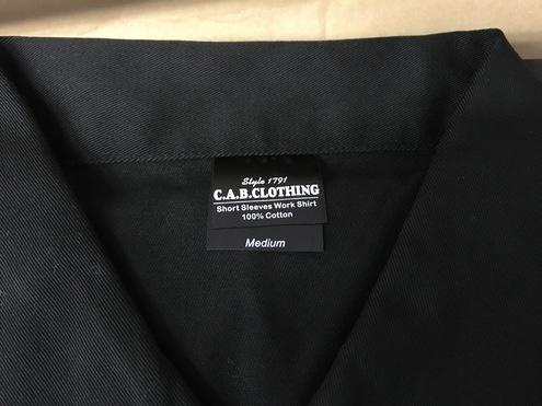 新品 ★ キャブクロージング ワークシャツ ブラック Mサイズ C.A.B. Clothing Work Shirt_画像1