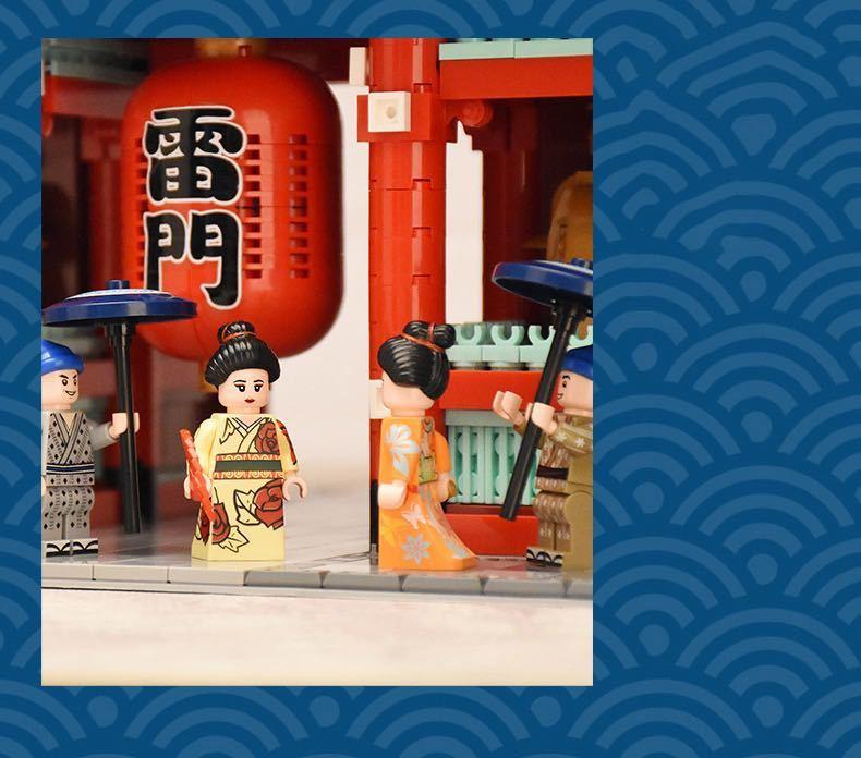 LEGO互換 浅草寺 クールジャパン_画像4