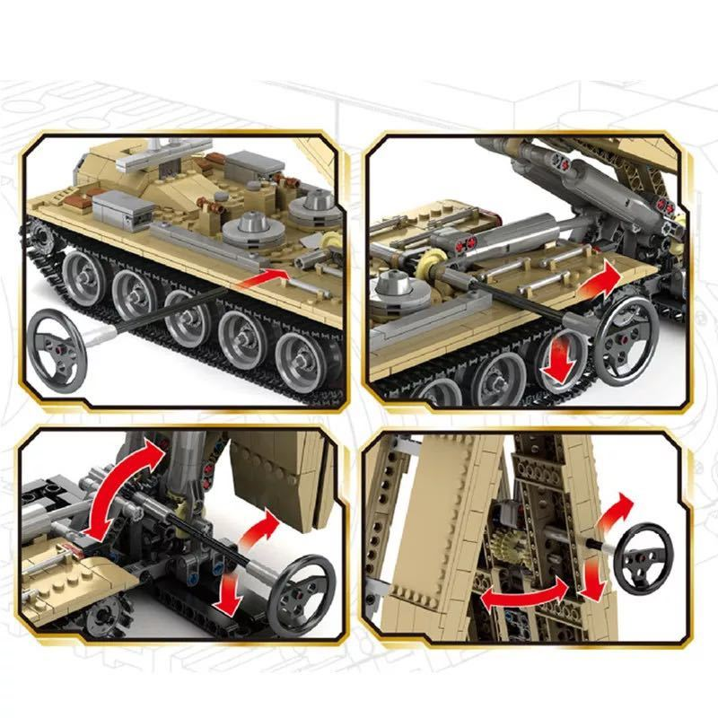LEGO互換 84式戦車橋 WZ-621_画像3