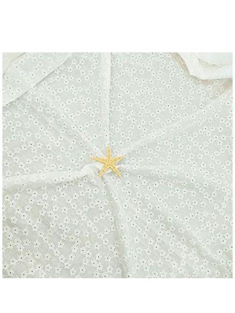生地 布 綿 刺繍 パッチワーク布 コット 生地 カットクロス 布 生地 ハンドメイド用品 手芸 手作り 縫製用 大人用 家庭用 (タイプH, 1M)