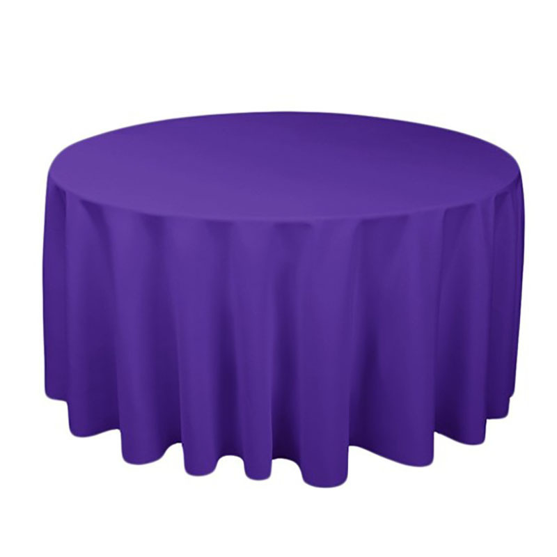 1 個ポリエステルラウンドテーブルクロス白/黒/赤/青/ゴールド固体テーブルクロス結婚式の誕生日パーティーテーブルカバー家の装飾_画像1