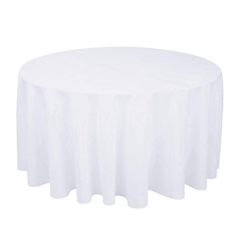 1 個ポリエステルラウンドテーブルクロス白/黒/赤/青/ゴールド固体テーブルクロス結婚式の誕生日パーティーテーブルカバー家の装飾_画像3