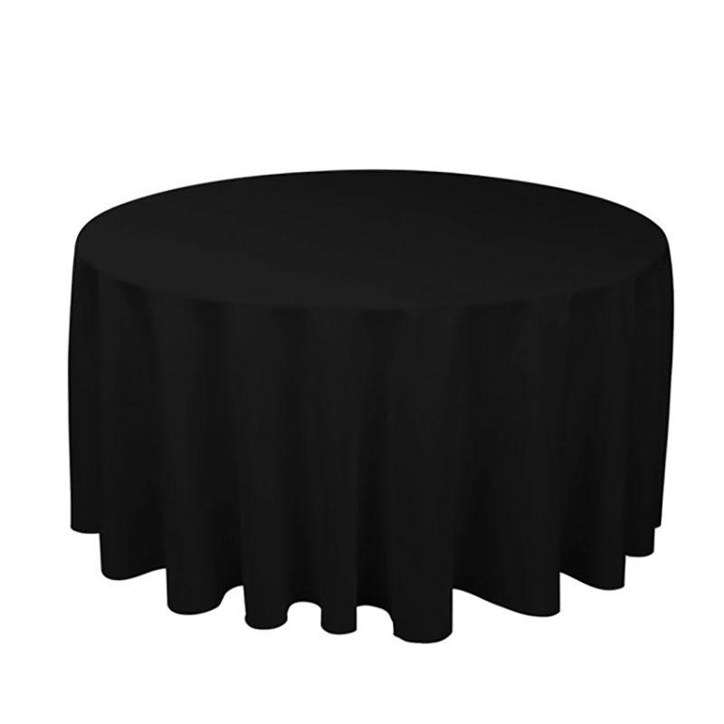 1 個ポリエステルラウンドテーブルクロス白/黒/赤/青/ゴールド固体テーブルクロス結婚式の誕生日パーティーテーブルカバー家の装飾_画像4