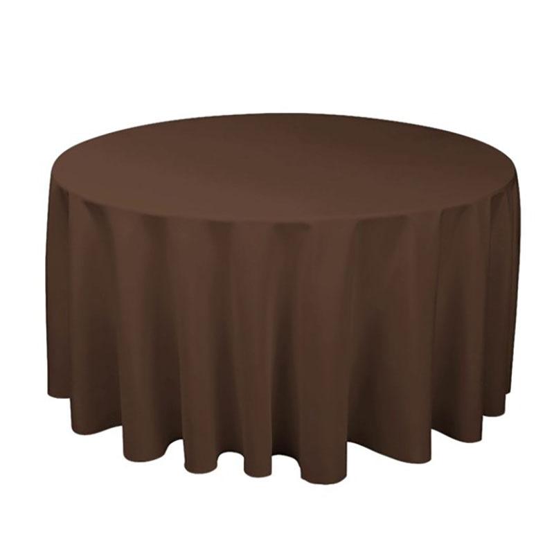 1 個ポリエステルラウンドテーブルクロス白/黒/赤/青/ゴールド固体テーブルクロス結婚式の誕生日パーティーテーブルカバー家の装飾_画像5