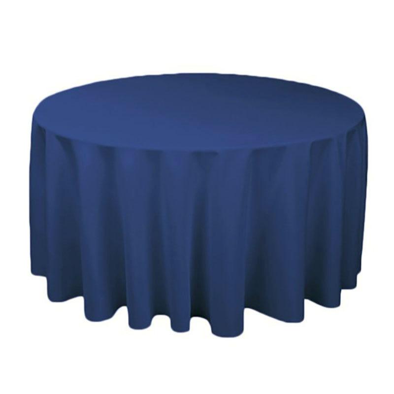 1 個ポリエステルラウンドテーブルクロス白/黒/赤/青/ゴールド固体テーブルクロス結婚式の誕生日パーティーテーブルカバー家の装飾_画像6