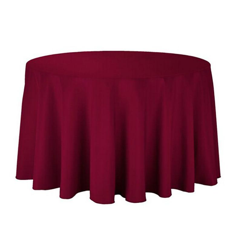 1 個ポリエステルラウンドテーブルクロス白/黒/赤/青/ゴールド固体テーブルクロス結婚式の誕生日パーティーテーブルカバー家の装飾_画像7