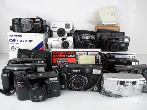 大量まとめ カメラ 14台 パーツ取り オリンパス OZ76 ZOOM リコー FF-3DAF SUPER RZ-700 DATE ニコン ペンタックス 富士フィルム 0812-023