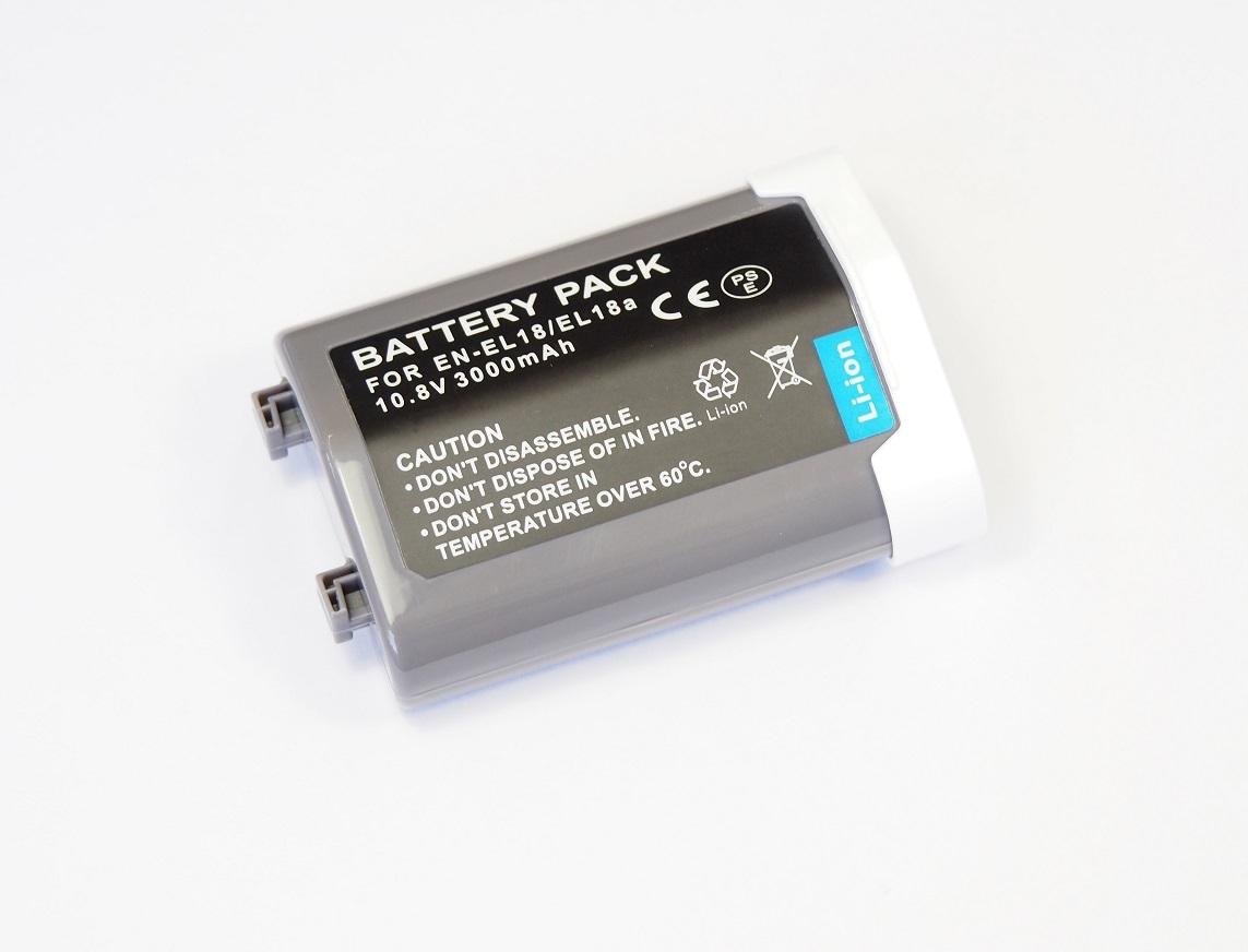 【Nikon EN-EL18/18A/18B/18C】ニコン■3000mAh 互換バッテリー PSE認証 保護回路内蔵 バッテリー残量表示可 リチウムイオン充電池_画像1