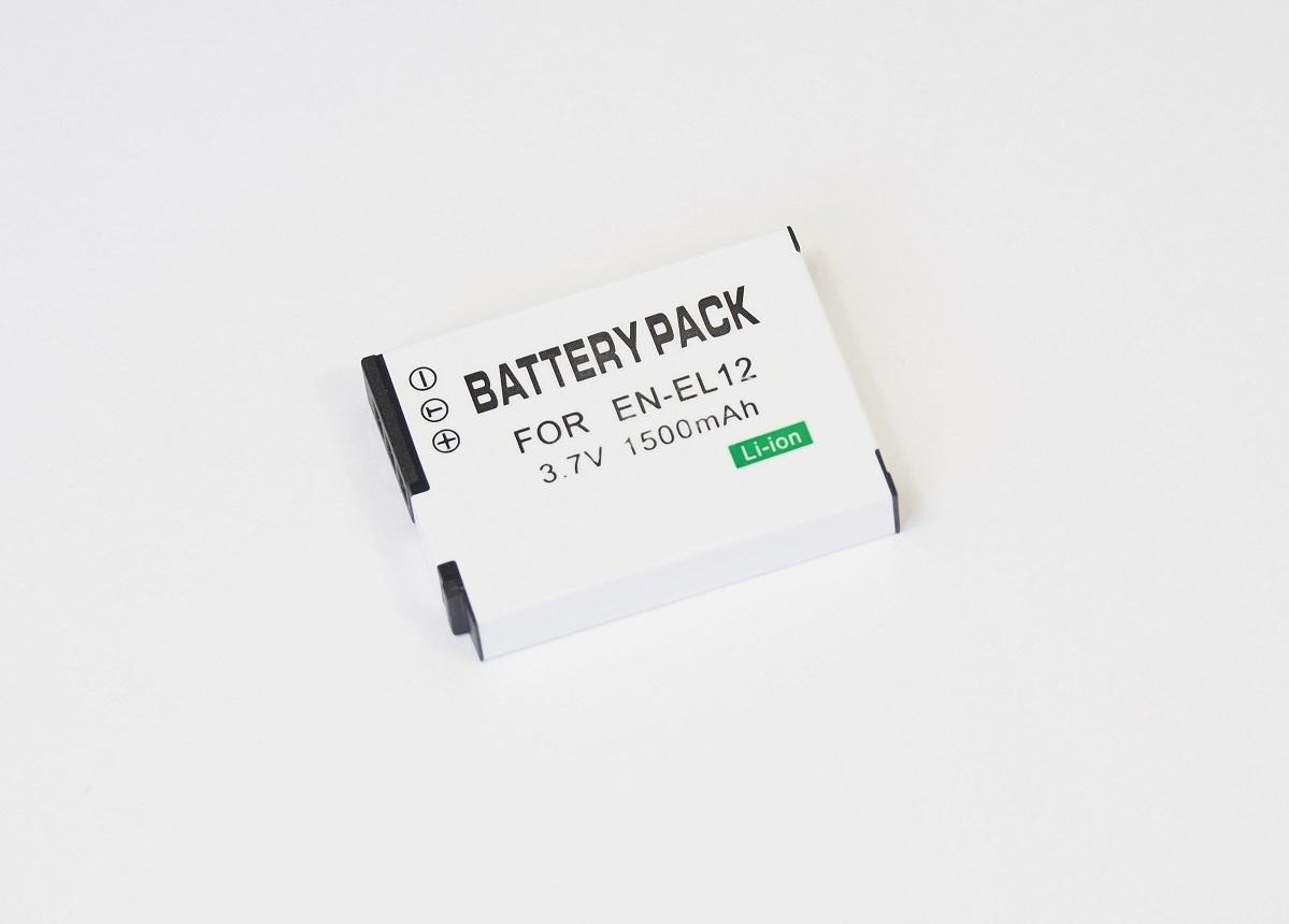 【Nikon EN-EL12】ニコン■1500mAh 互換バッテリー PSE認証 保護回路内蔵 バッテリー残量表示可 リチウムイオン充電池_画像1
