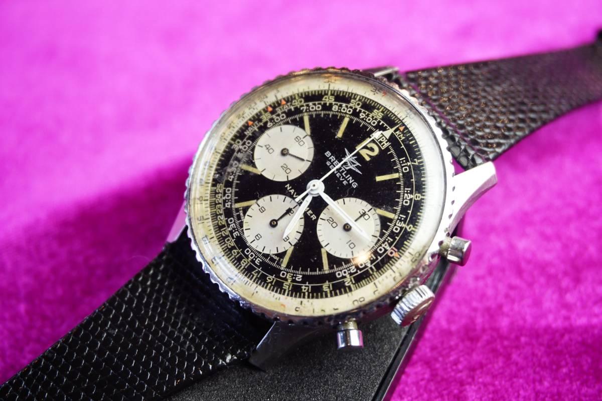 ■極上品 BREITLING 高級ブライトリング ナビタイマー クロノグラフ 806 アンティーク腕時計 ヴィンテージ 動作良好■_画像8