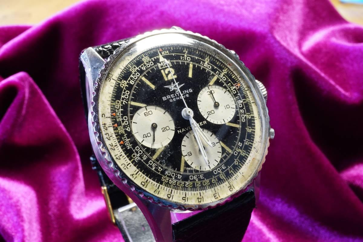 ■極上品 BREITLING 高級ブライトリング ナビタイマー クロノグラフ 806 アンティーク腕時計 ヴィンテージ 動作良好■_画像9