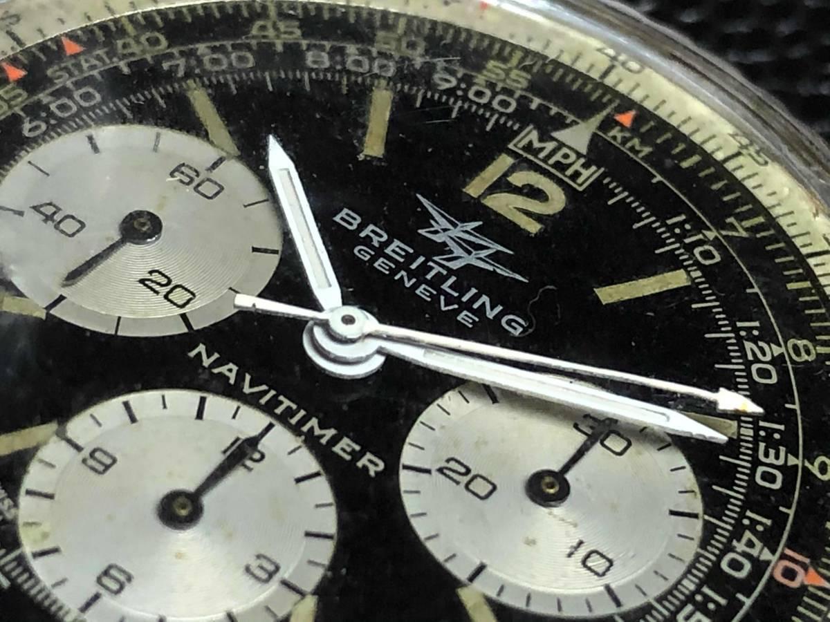 ■極上品 BREITLING 高級ブライトリング ナビタイマー クロノグラフ 806 アンティーク腕時計 ヴィンテージ 動作良好■_画像1