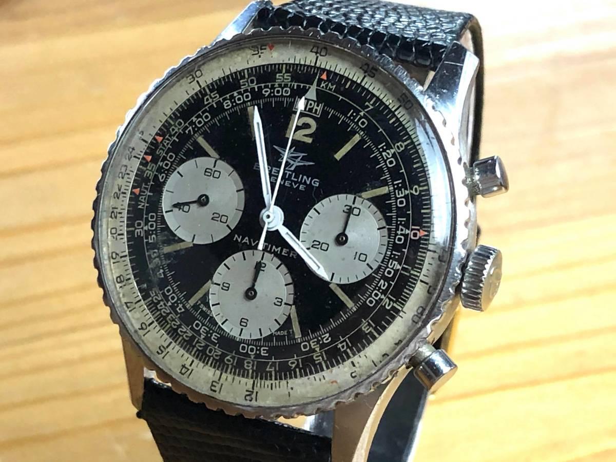 ■極上品 BREITLING 高級ブライトリング ナビタイマー クロノグラフ 806 アンティーク腕時計 ヴィンテージ 動作良好■_画像2