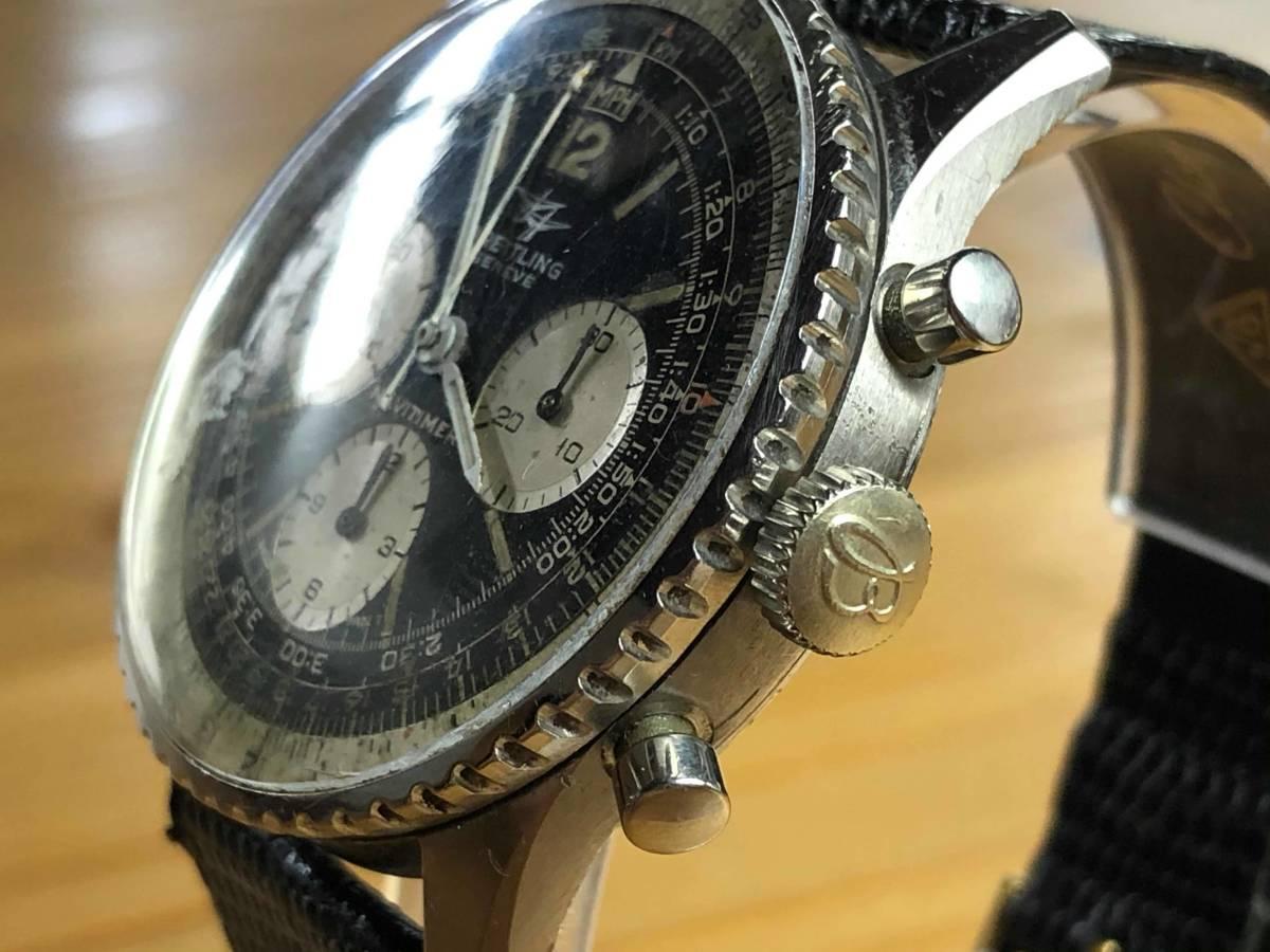 ■極上品 BREITLING 高級ブライトリング ナビタイマー クロノグラフ 806 アンティーク腕時計 ヴィンテージ 動作良好■_画像4