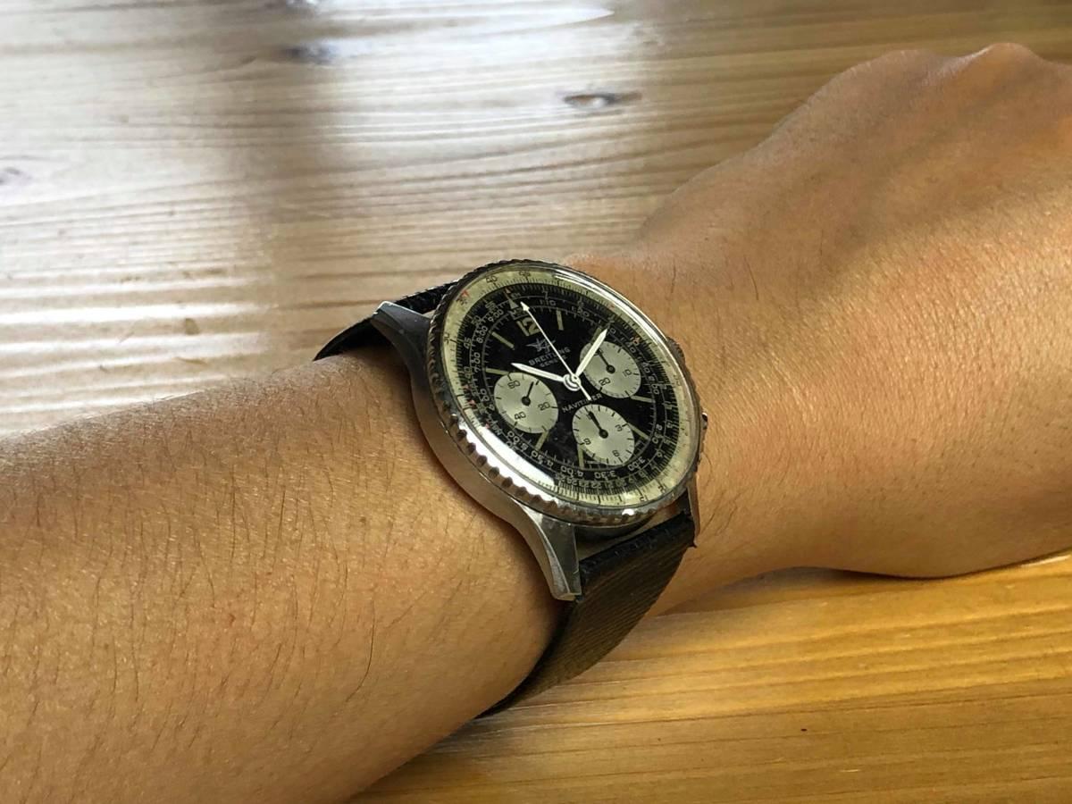■極上品 BREITLING 高級ブライトリング ナビタイマー クロノグラフ 806 アンティーク腕時計 ヴィンテージ 動作良好■_画像7