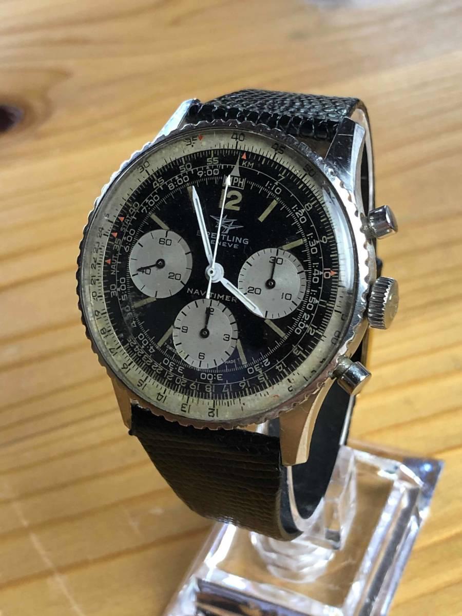 ■極上品 BREITLING 高級ブライトリング ナビタイマー クロノグラフ 806 アンティーク腕時計 ヴィンテージ 動作良好■_画像3