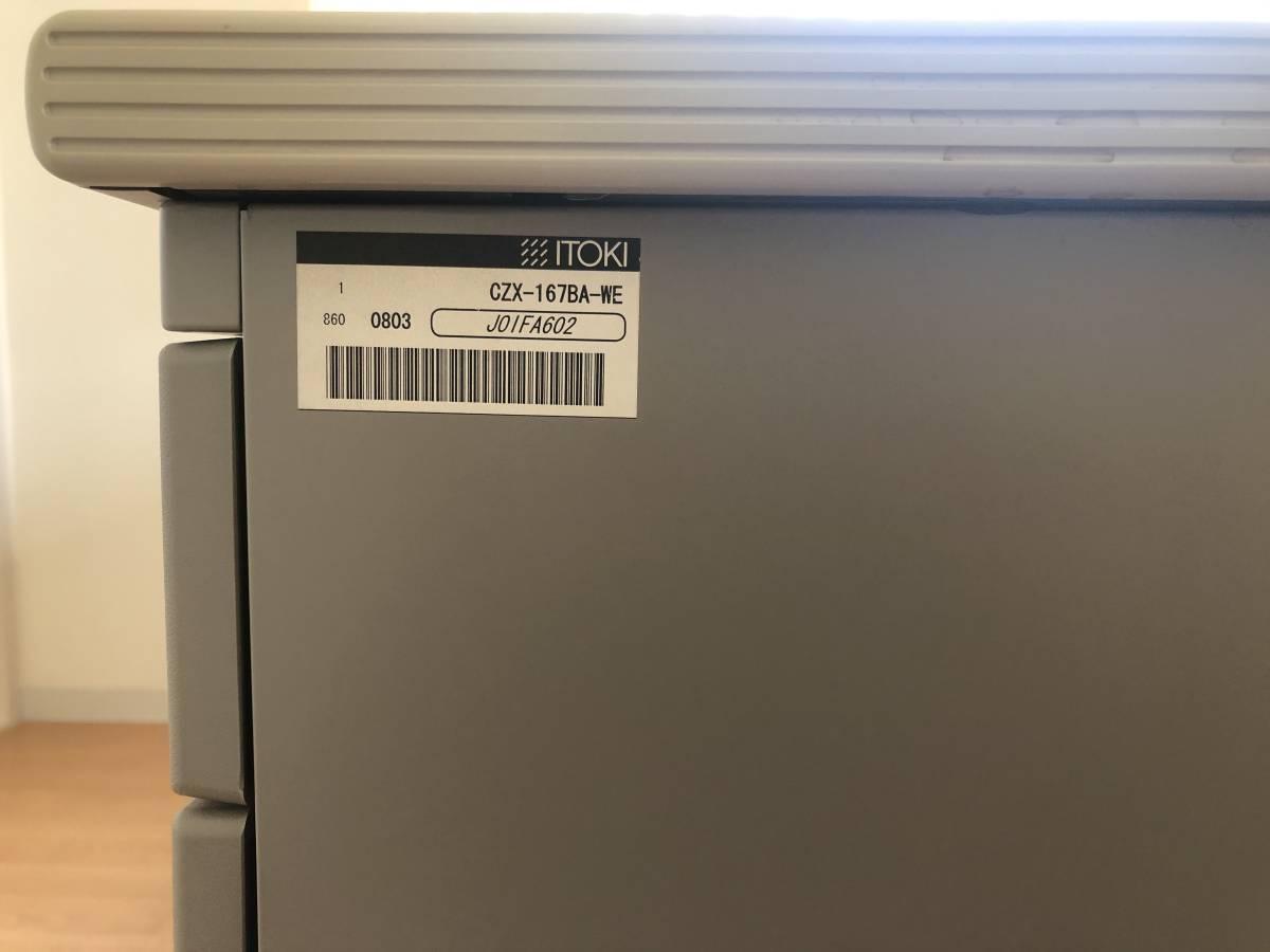【中古/美品】CZXデスク CZX-167BA-WE イトーキ/ITOKI 両袖机 オフィスデスク_画像4