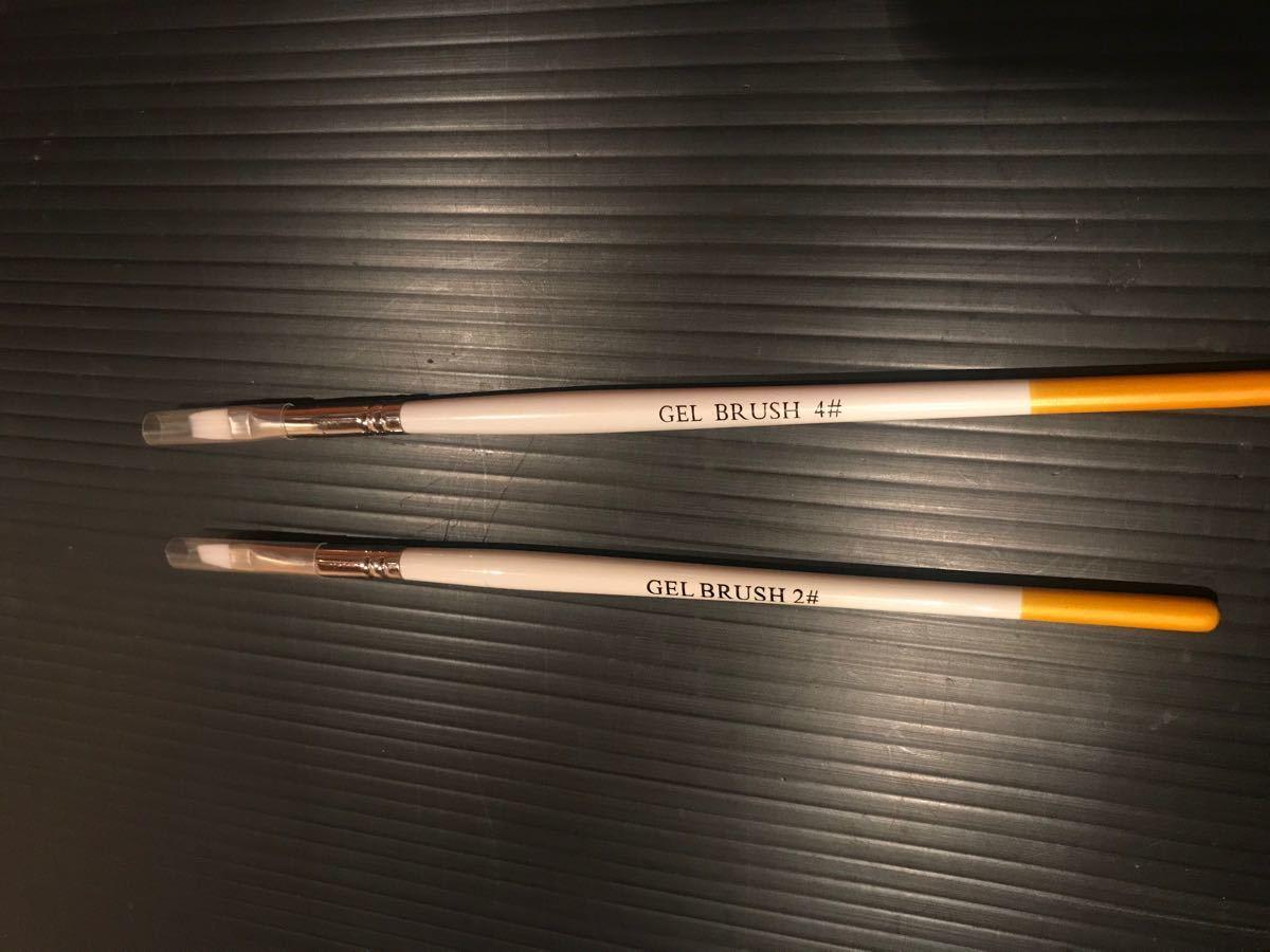 ジェルネイル用 ナイロンブラシ二本セット