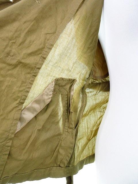 ディシャス Decious ジャケット ステンカラー ノースリーブ 無地 38 茶 ブラウン /M2 レディース_画像5