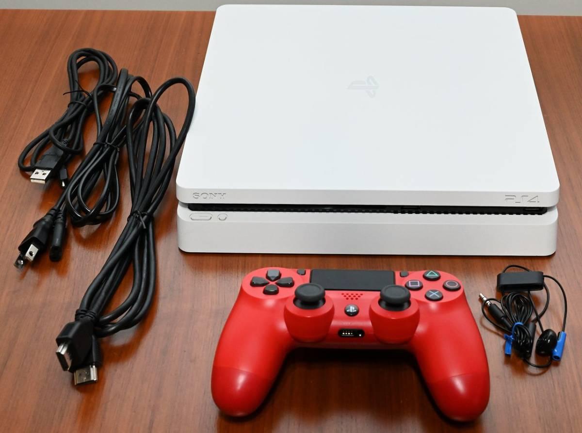 【USED】SONY PlayStation4 CUH-2200B グレイシャー・ホワイト 1TB 動作確認初期化済み