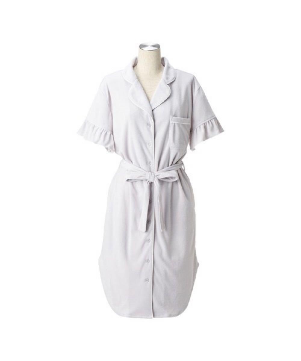 【フランフラン/Francfranc】フリルパジャマ ワンピース 巾着付き