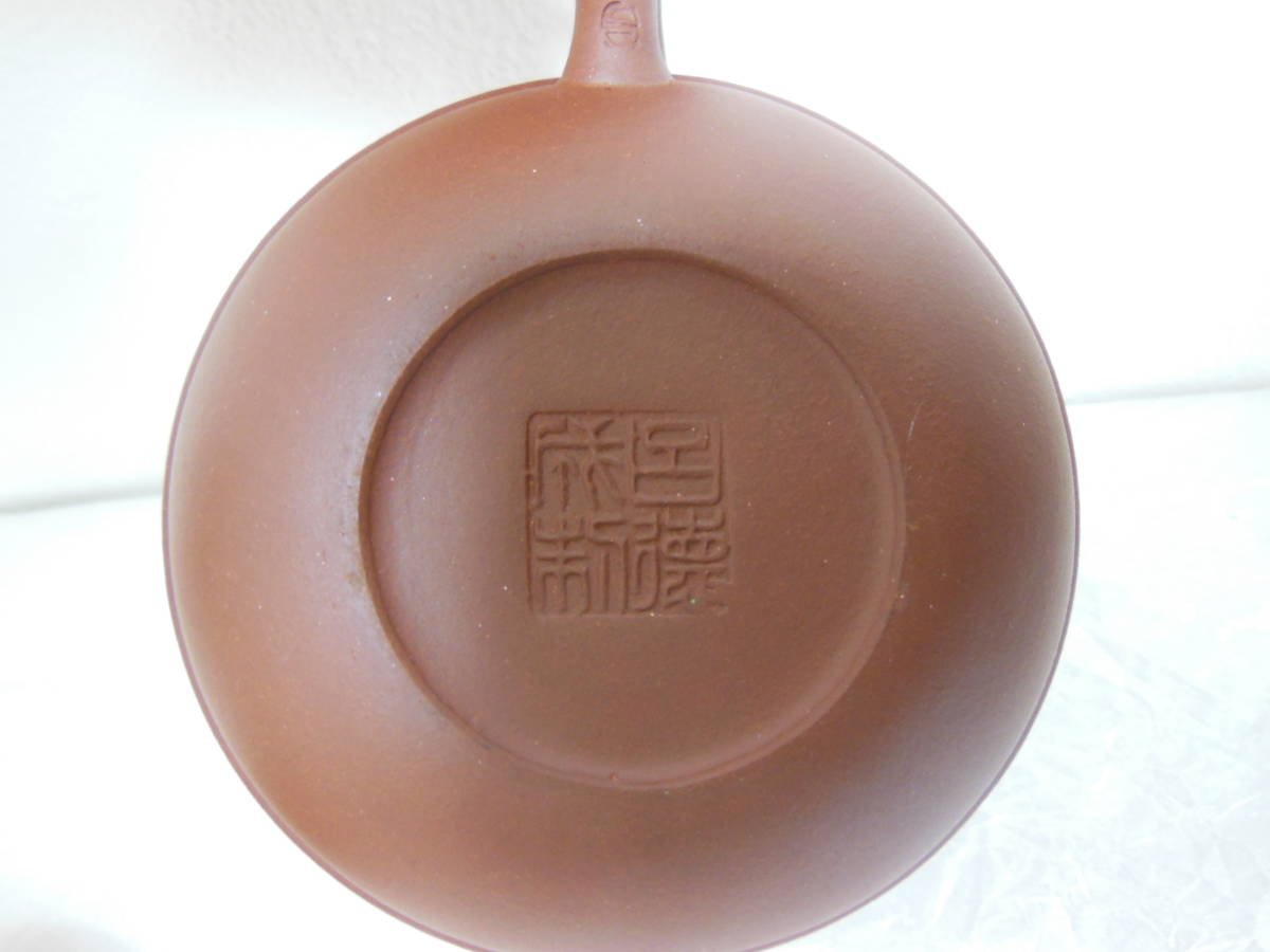 ●《 唐物 朱泥急須 胴紐 蛙摘 呂徳成新在款 》時代物 急須 朱泥 煎茶道具 茶道具 茶席道具 中国美術 古玩 古美術 骨董_画像10