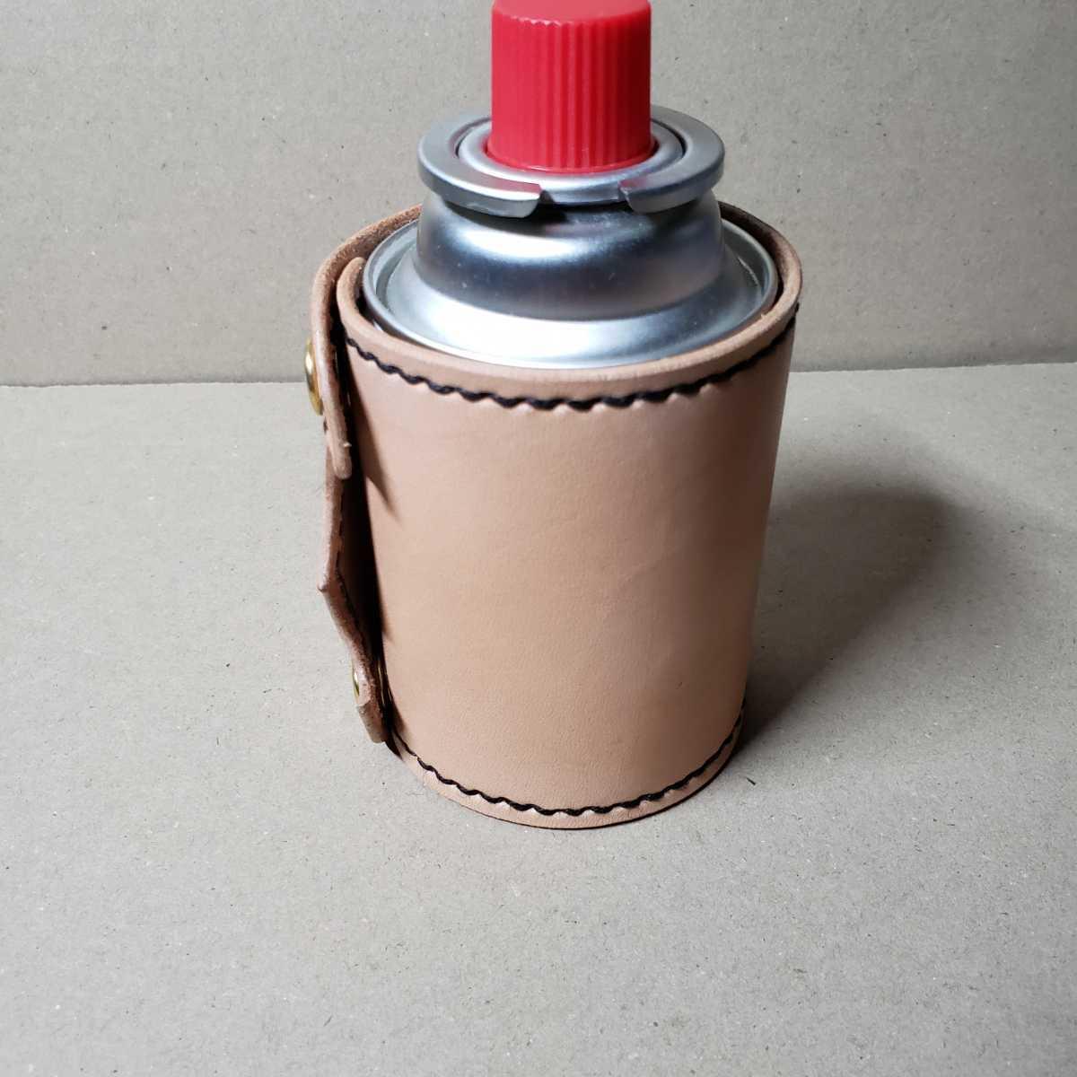 イワタニ Jr CB缶(カセットボンベ)栃木レザーヌメ革製カバー