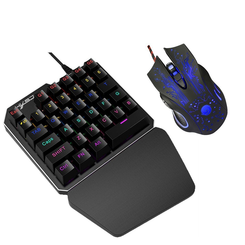 シングルハンド ゲーミングキーボード + マウスセット プログラム可能_画像4