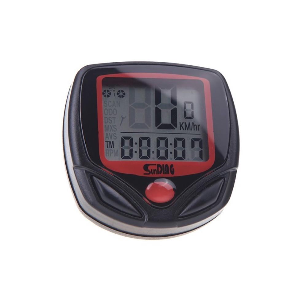 Sunding SD-548B 多機能 自転車用 サイクルコンピューター スピード 最高 平均スピード 距離 オドメーター トリップメーター 時間_画像1